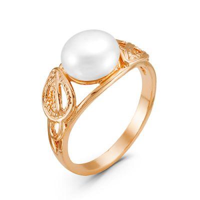 Кольцо серебро жемчуг золочение Красная Пресня Б2339587 8cd50cfdad5