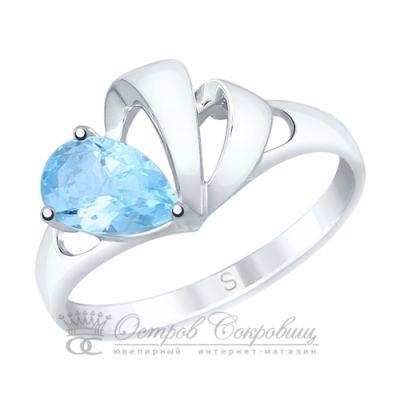 Серебряное кольцо с топазом родирование SOKOLOV С92011581 60db1a2df28